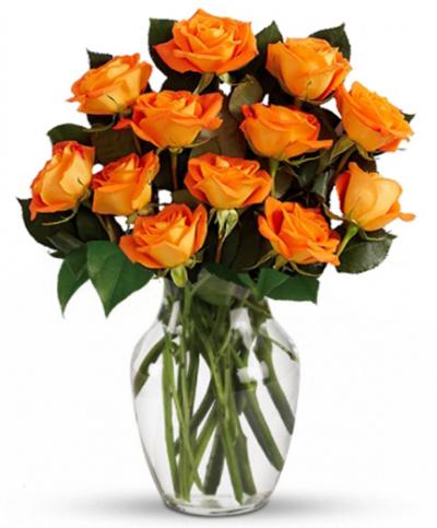 12 Orange Roses Send to Philippines,Roses to Philippines