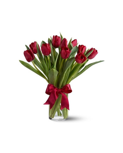 buy red tulips in a vase philippines
