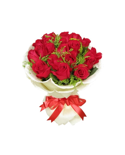 24 Red Roses Hand Tied Bouquet