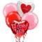 5 pieces valentines mylar balloon to philippines