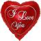 i love you heart shaped mylar balloon to philippines