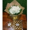 24 White Roses Bouquet with Chocolates Box