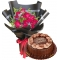12 Roses with Double Dutch Cake By Goldilocks